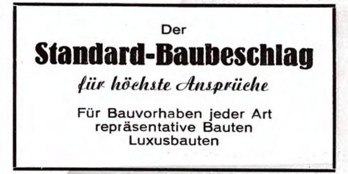 1950 - VVB Maschinenbau - Der Standard - Baubeschlag