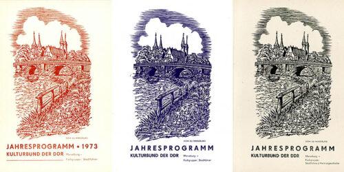 1973 - 1990 - Kulturbund der DDR - Jahresprogramme der Fachgruppe Stadtführer Merseburg
