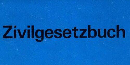 1977 - Zivilgesetzbuch der DDR