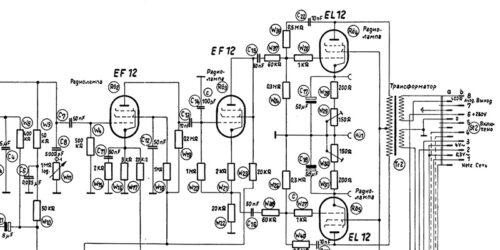 1950 - Schaltung des Normverstärkers 4147 K