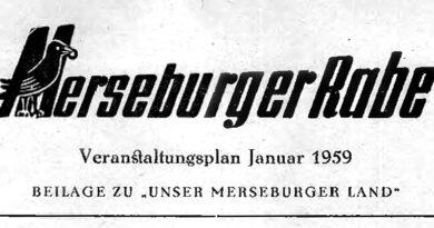 1959-Merseburger Rabe - Veranstaltungsplan
