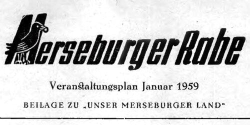 1959 - Merseburger Rabe - Veranstaltungsplan