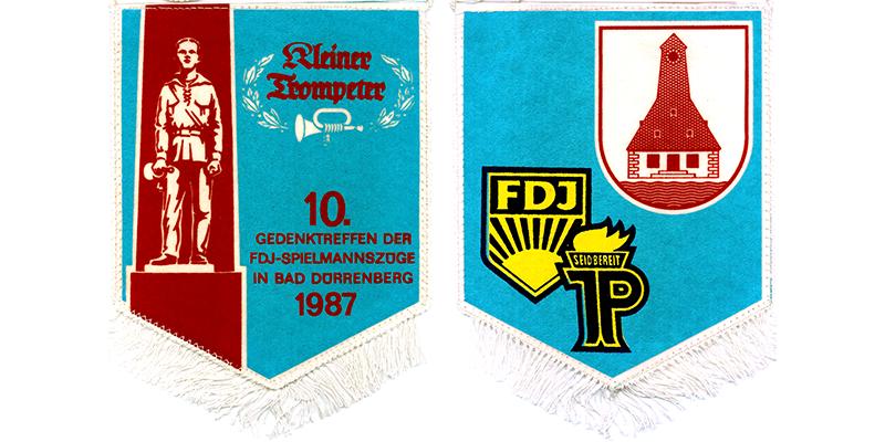 """1987 - 10. Gedenktreffen der FDJ Spielmannszüge """"Kleiner Trompeter"""" in Bad Dürrenberg"""