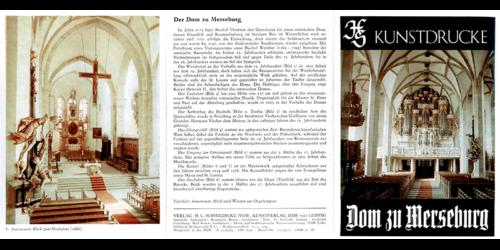 """1984 - Kunstdruck """"Dom zu Merseburg"""""""