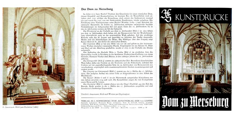 1984-Kunstdruck Dom zu Merseburg