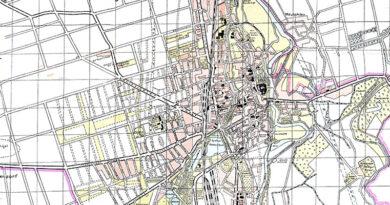 Plan der Stadt Merseburg mit Straßenverzeichnis